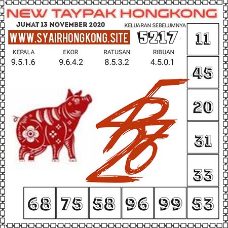 Prediksi Togel New Taypak Hongkong Jumat 13 November 2020