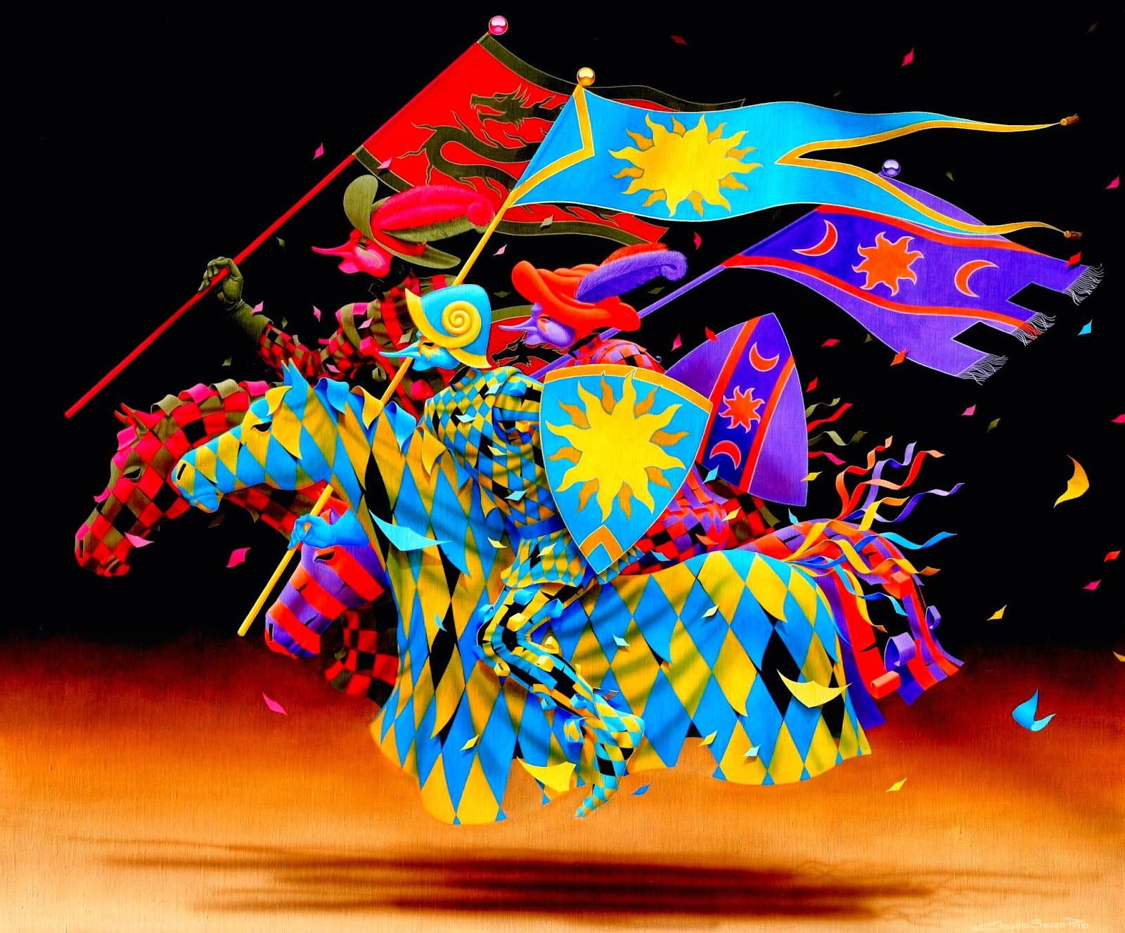 Cavalaria de Siena - Claudio Souza Pinto e suas pinturas cheias de cor e criatividade