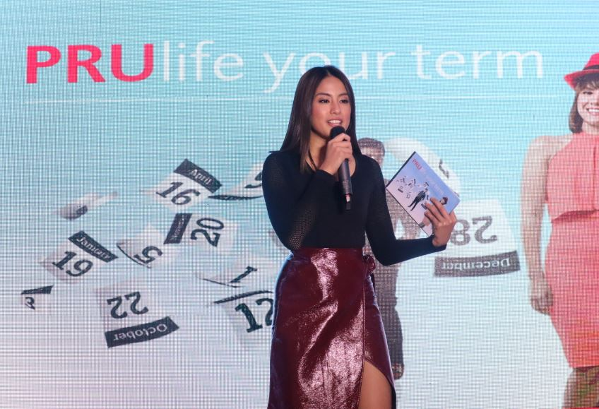 Gretchen Ho talks about her passions as a millennial at the launch of PRUlife your term.