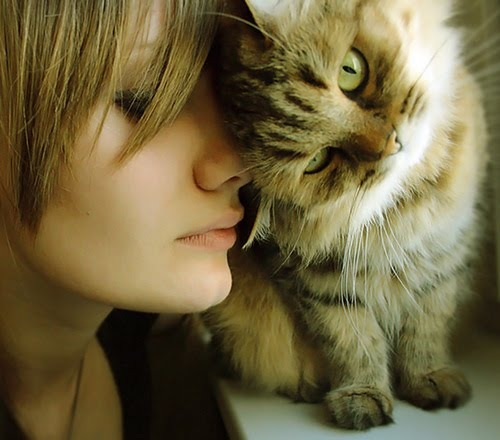 Beautiful Woman With Animal All About Photo