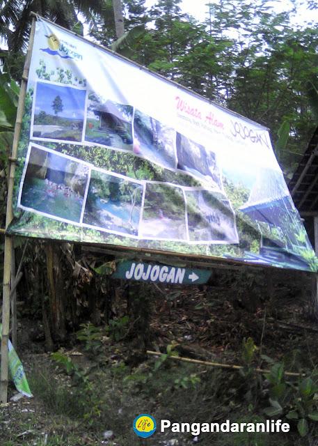 Plang menuju Wisata Alam Jojogan