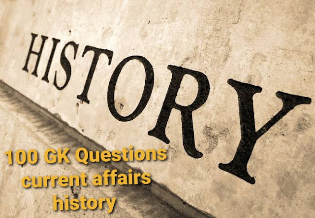 100 GK Questions current affairs history