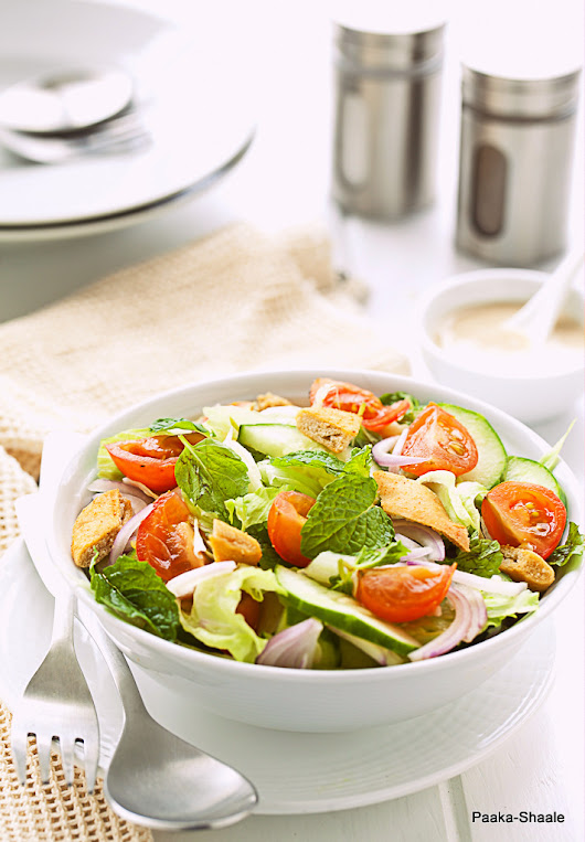 Fattoush- Middle eastern Bread Salad