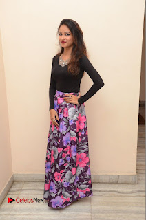 Actress Sana Pictures in Floral Skirt at Neerajanam Audio Launch 0167