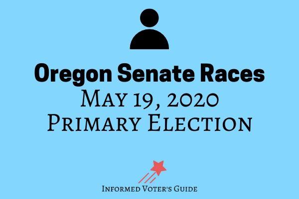 Oregon state senators voters guide