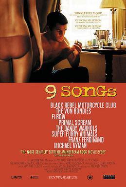 9 songs film erotyczny plakat