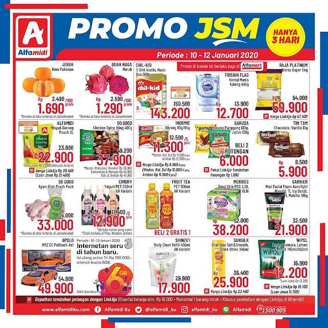 #Alfamidi - #Promo JSM Weekend Periode 10 - 12 Januari 2020