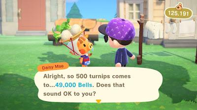 Buying Turnips on Animal Crossing: Week 7