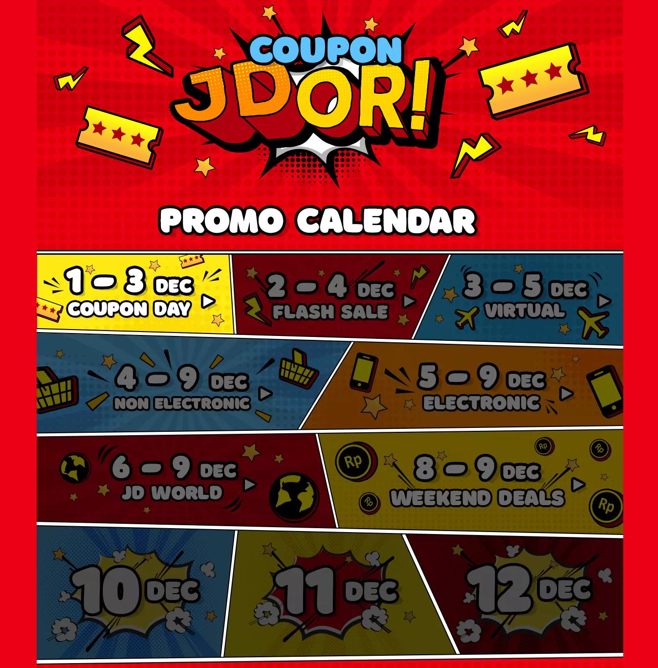 JDID - Promo Kalender Kupon di Coupon JDOR! (s.d 12 Des 2018)