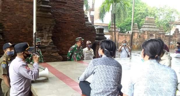 Operasi Yustisi Penegakan PPKM Sisir Kerumunan Di Pasar Dan Masjid Menara