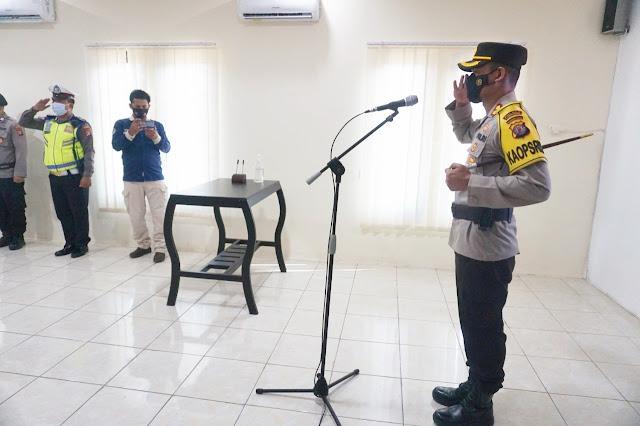 Kapolres Lamandau Pimpinan Upacara Pengukuhan Kapolsek Sematu Jaya