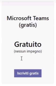 Creare un account teams