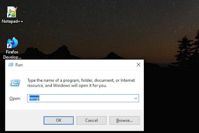 cara membersihkan sampah laptop dengan fitur run