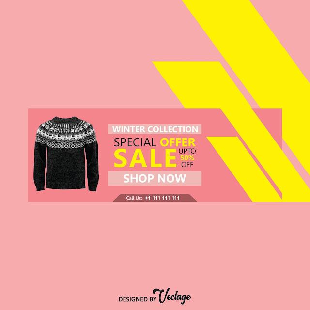 winter sale banner design, banner design download,