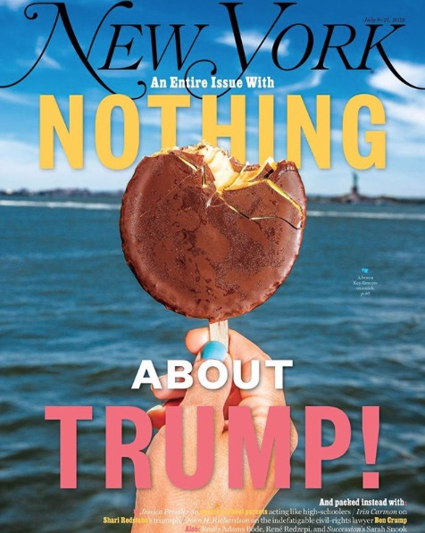 New York Magazine: Nothing about Trump! July 8-21, 2019