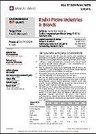 Studio societario di Banca Finnat su Radici Pietro Industries & Brands