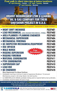 Shutdown Oil and Gas Project in UAE