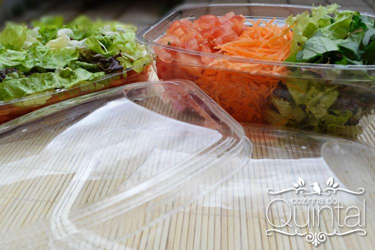 Os potes juntos, para Salada!!