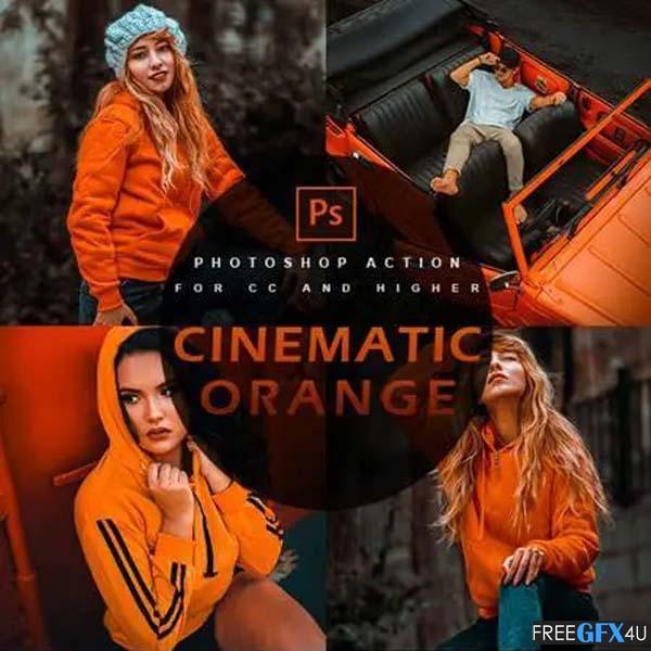 Cinematic Orange Photoshop Action