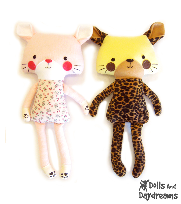 Dolls And Daydreams - Doll And Softie PDF Sewing Patterns: Cat ...