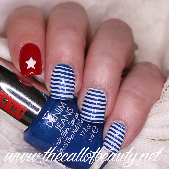 Cuban Flag Nail Art