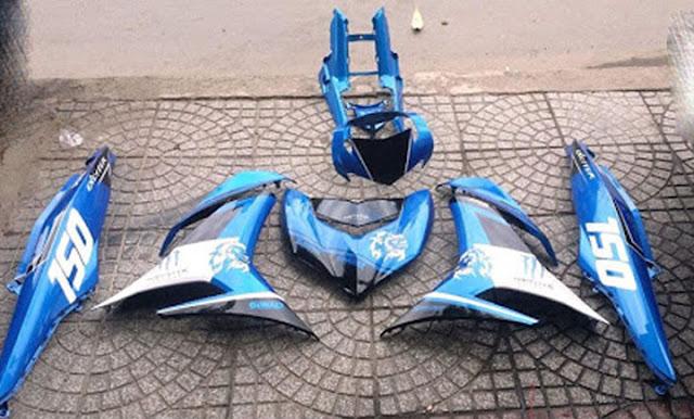 Sơn xe máy Exciter 150 tem đấu cực đẹp