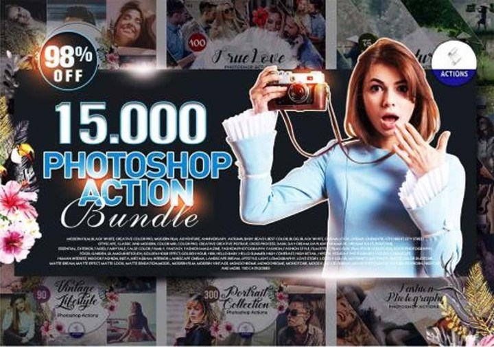 15000 Photoshop Actions Bundle