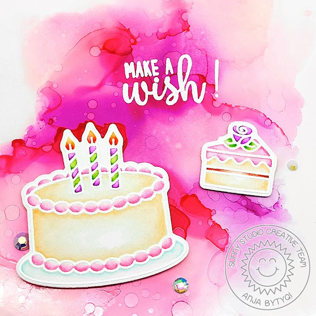 Sunny Studio Stamps: Make A Wish Happy Birthday Card by Anja Bytyqi