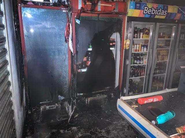Em Santana do Ipanema, bombeiros são acionados para conter incêndio em mercado