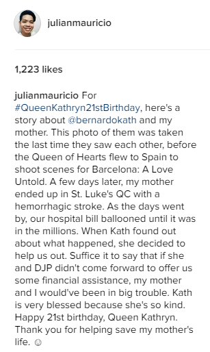 See What Kathryn Bernardo Did for This Blogger's Sick Mom. Truly Touching!