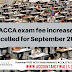 ACCA exam fee increase cancelled for September 2020