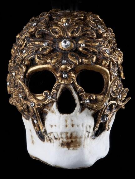 Demone Venetian Masquerade Mask Nero