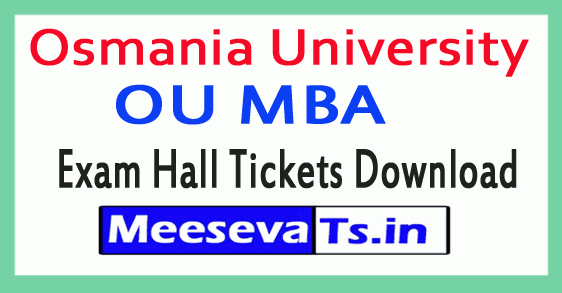 Osmania University OU MBA Exam Hall Tickets Download