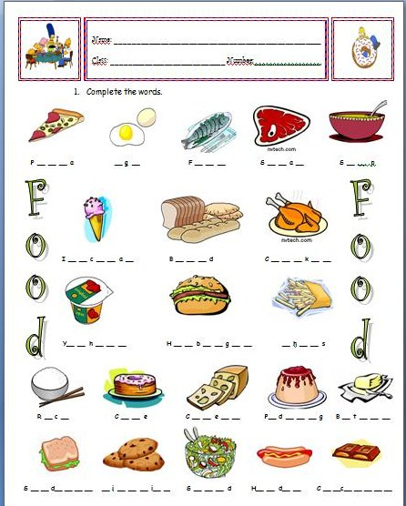 food exercise