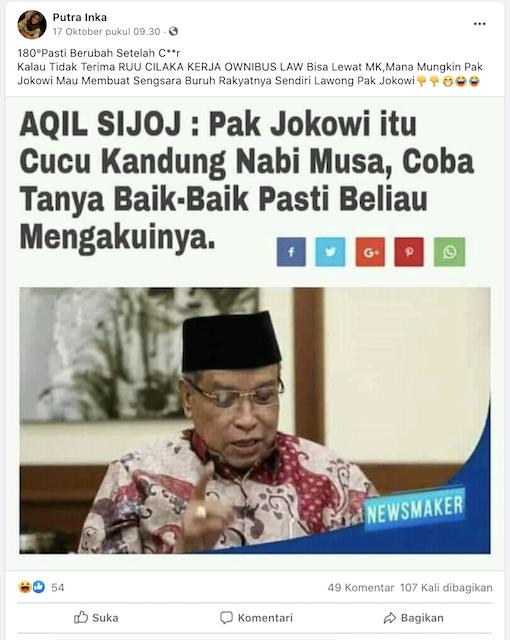 Cek Fakta: Jokowi Disebut Cucu Kandung Nabi Musa