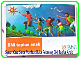 Buku rekening BNI Taplus Anak