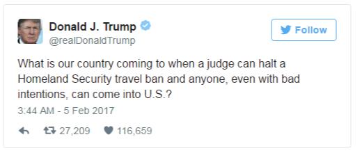 Permohonan Banding Trump