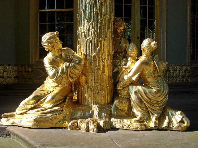 sztuka, Poczdam, złoto, Niemcy