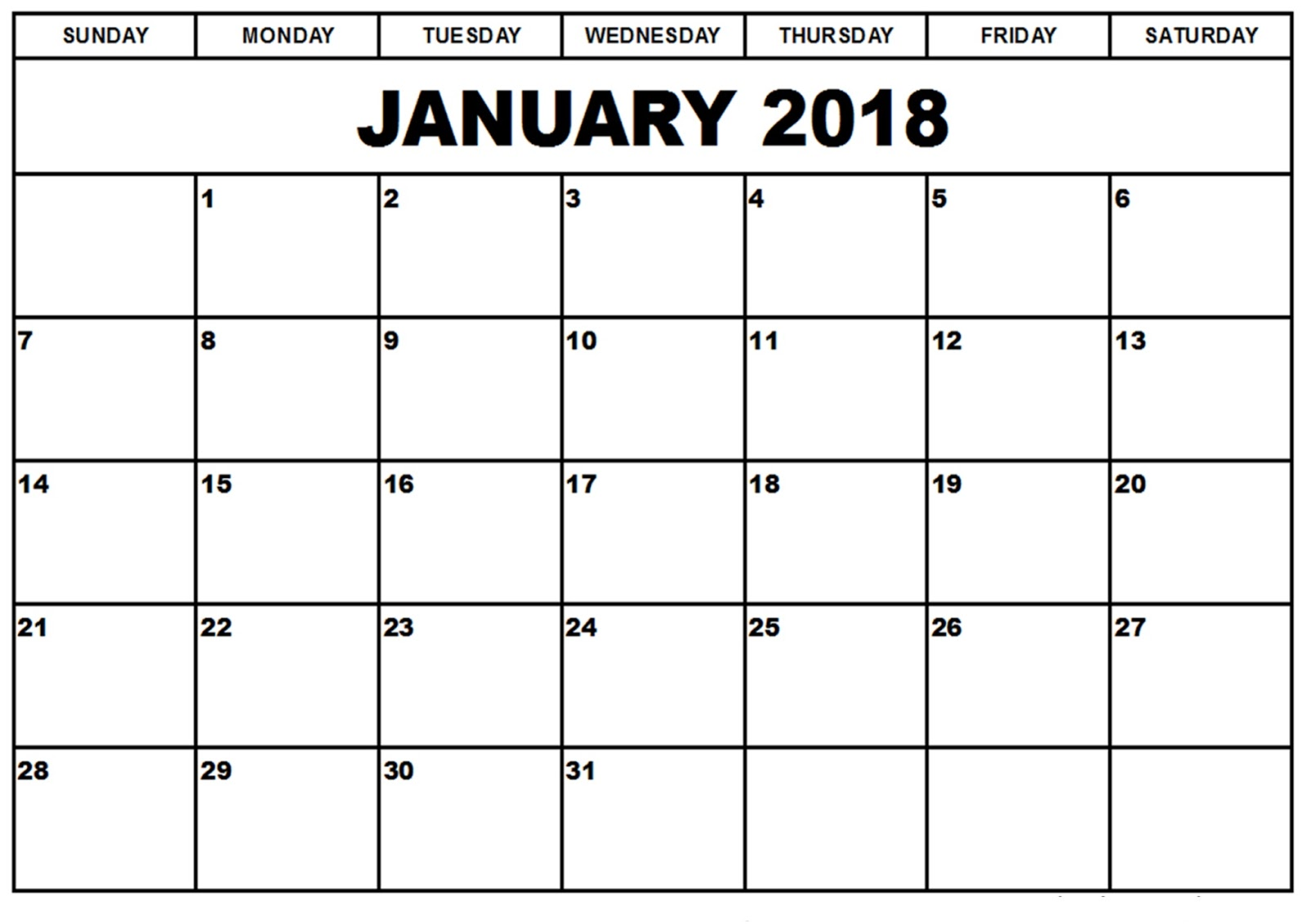 january 2018 printable calendar january 2018 printable templates january 2018 calendar templates january