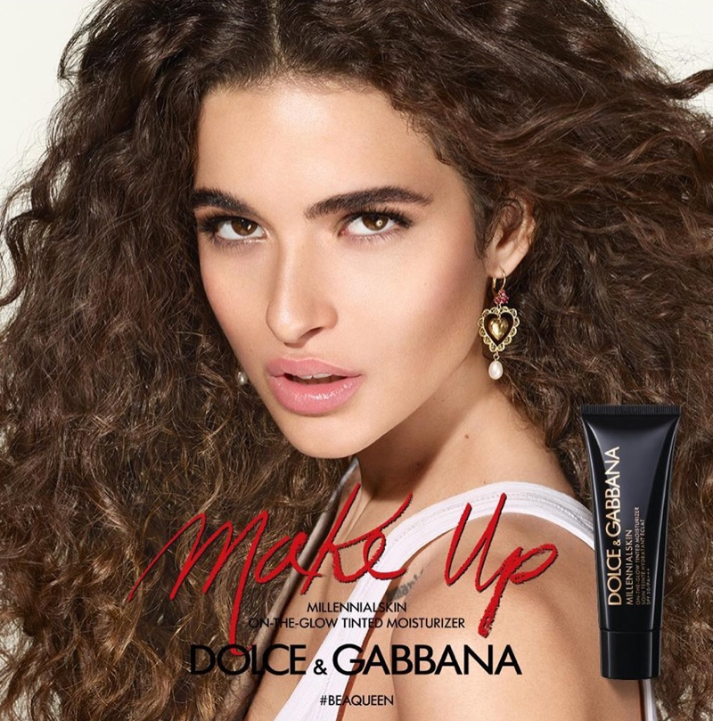 Chiara Scelsi appears in Dolce & Gabbana #BeAQueen Makeup campaign
