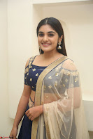 Niveda Thomas in Lovely Blue Cold Shoulder Ghagra Choli Transparent Chunni ~  Exclusive Celebrities Galleries 011.JPG