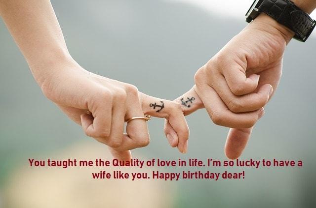 Happy birthday wishes to my wife
