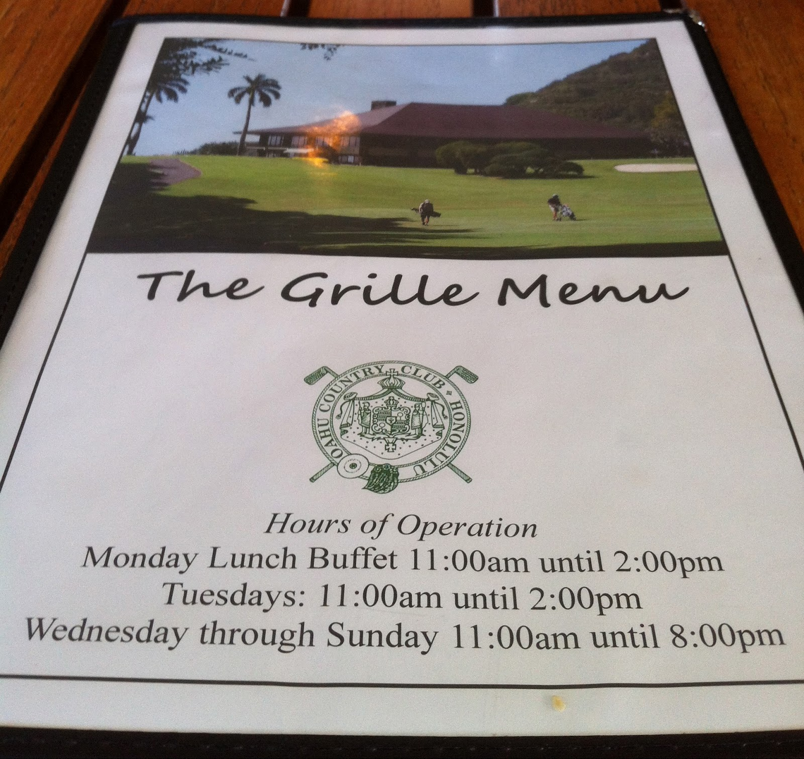 TASTE OF HAWAII: THE GRILLE AT OAHU COUNTRY CLUB