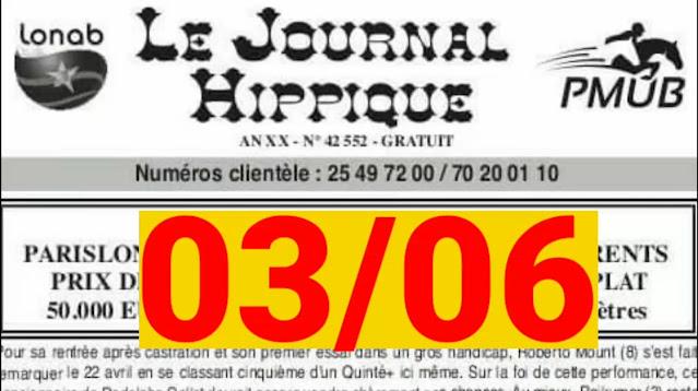 programme quinté Pronostic jeudi 03/06/2021