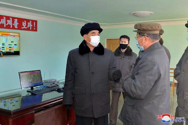 Pak Pong Ju inspects Hwanghae Iron and Steel Complex, December 2020