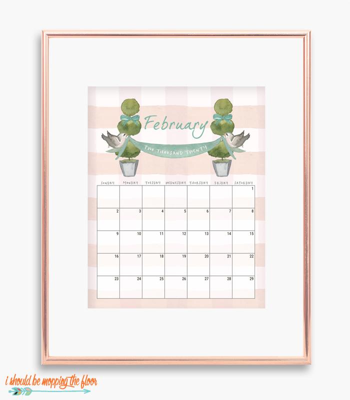 French February Calendar