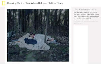 Donde duermen los niños refugiados