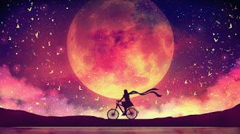 Moon, Night, Scenery, Riding, Bike, 4K, #6.2510