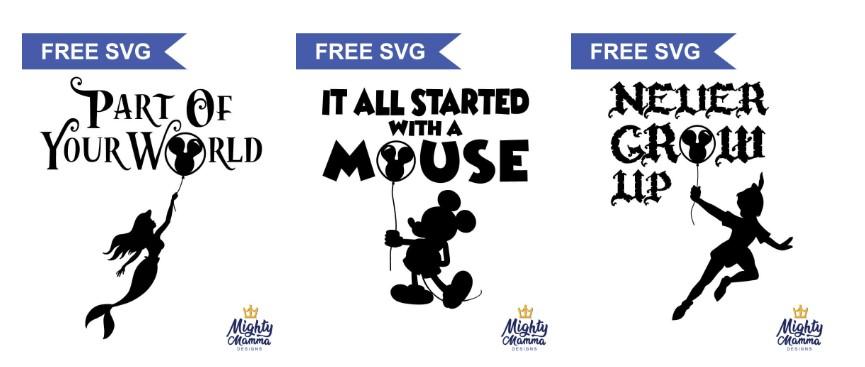 Free Disney Inspired Svgs