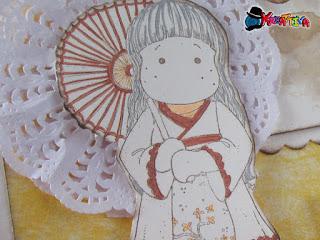 ombrellino geisha con centrini di carta